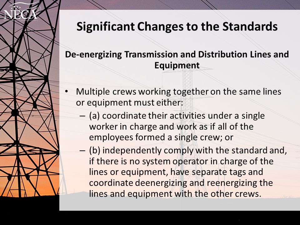 Significant Changes to the Standards
