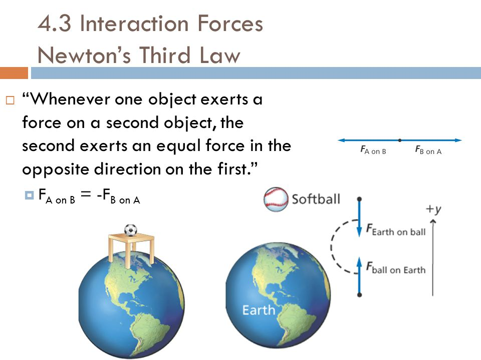 4.3 Interaction Forces Newton's Third Law