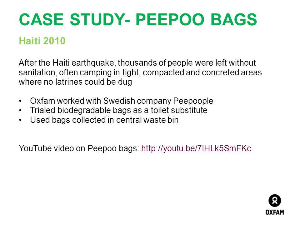 Case study- Peepoo bags