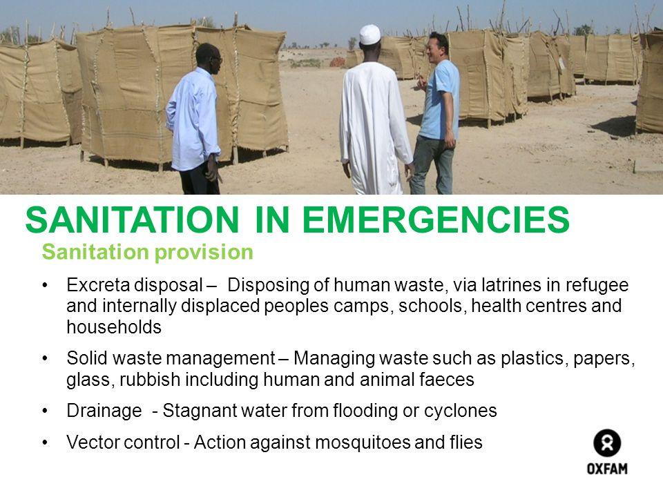 SANITATION IN EMERGENCIES
