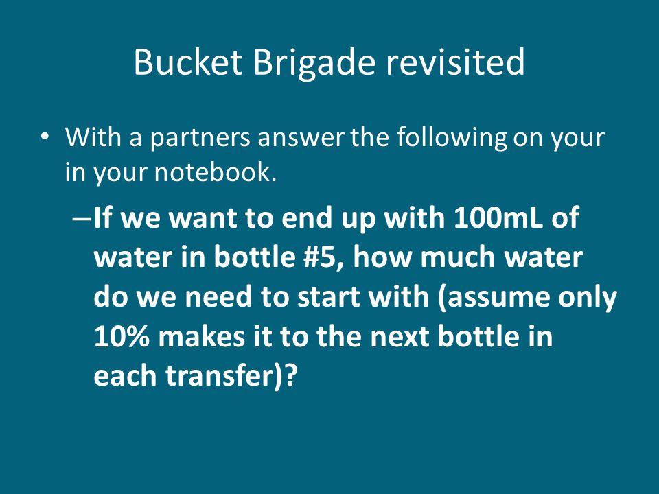 Bucket Brigade revisited