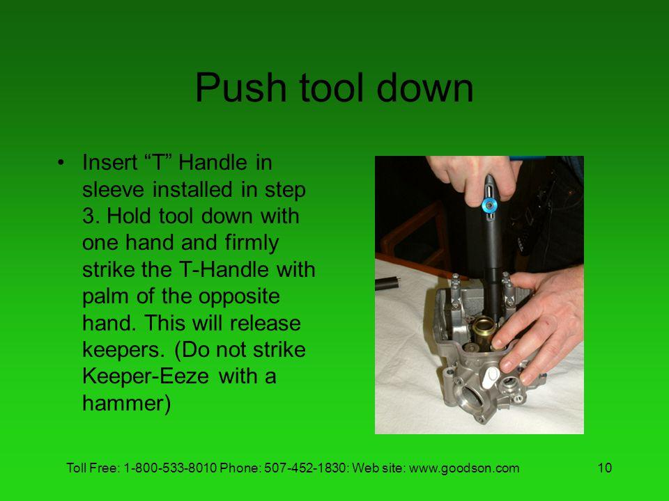 Push tool down