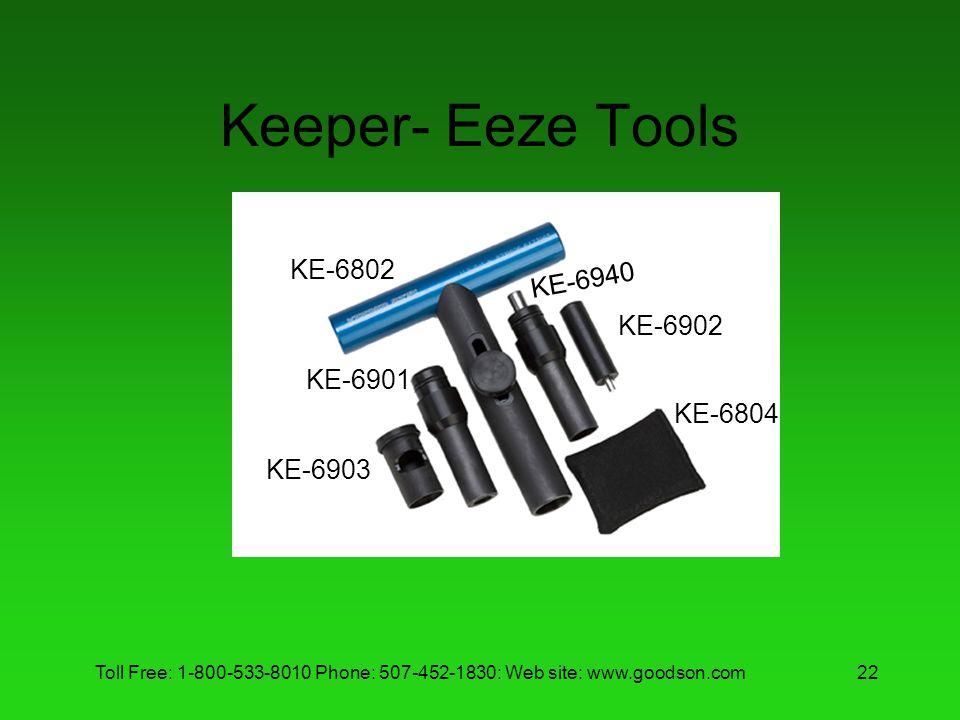 Keeper- Eeze Tools KE-6802 KE-6940 KE-6902 KE-6901 KE-6804 KE-6903