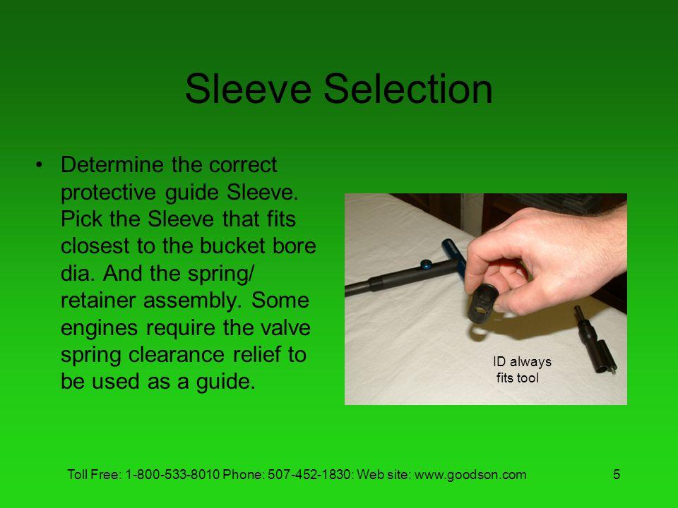 Sleeve Selection