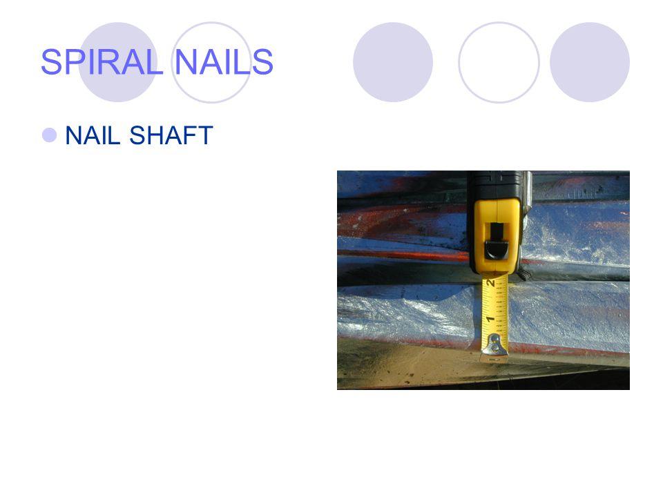 SPIRAL NAILS NAIL SHAFT