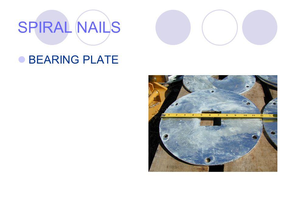 SPIRAL NAILS BEARING PLATE