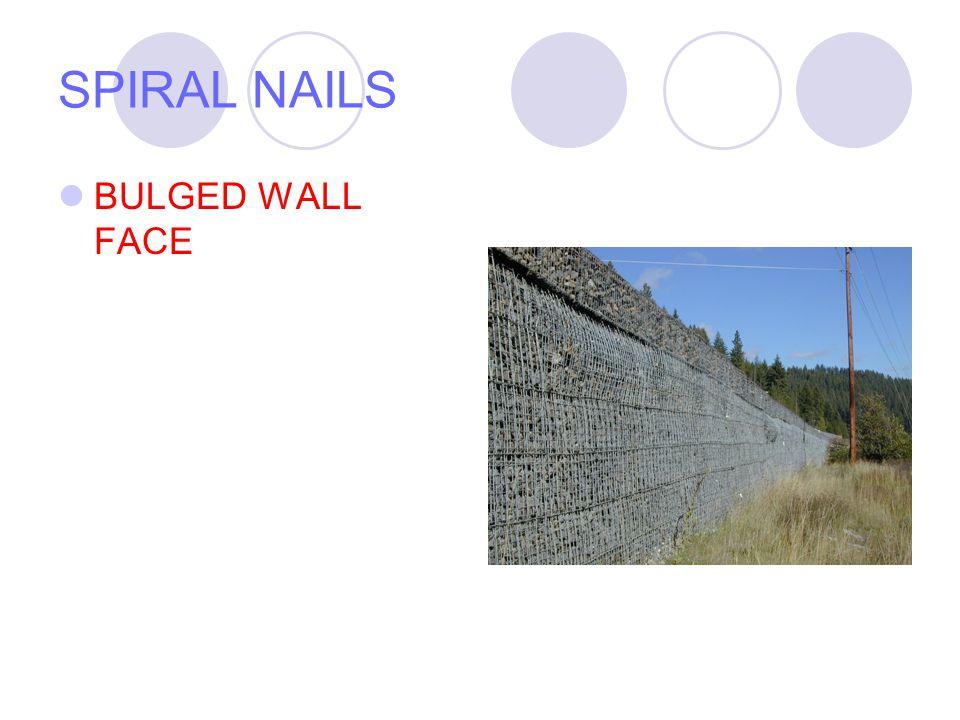 SPIRAL NAILS BULGED WALL FACE
