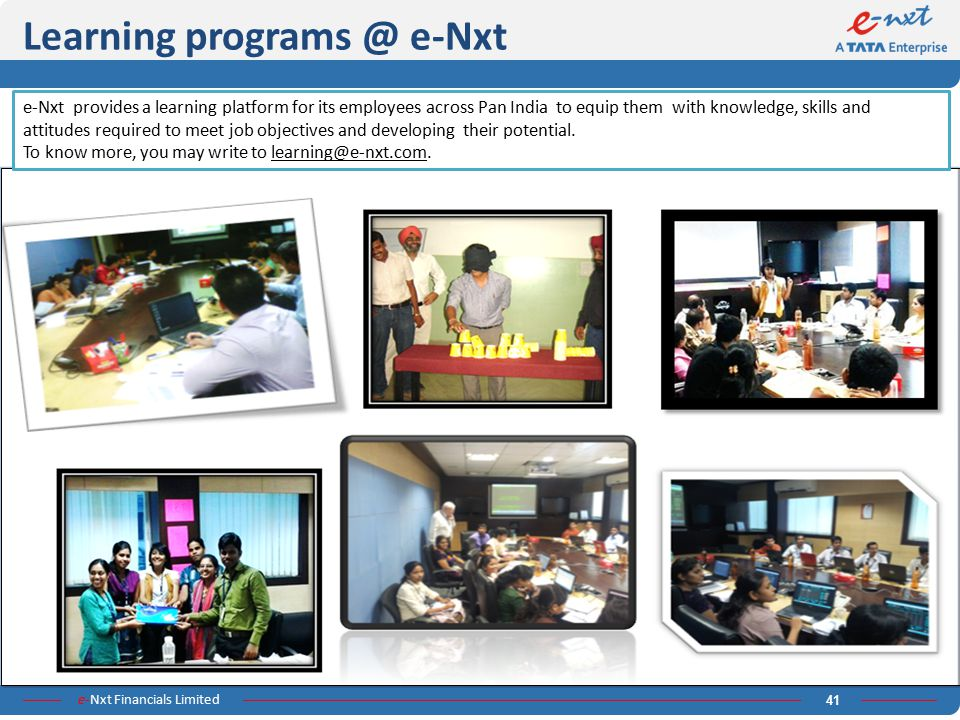 Learning programs @ e-Nxt