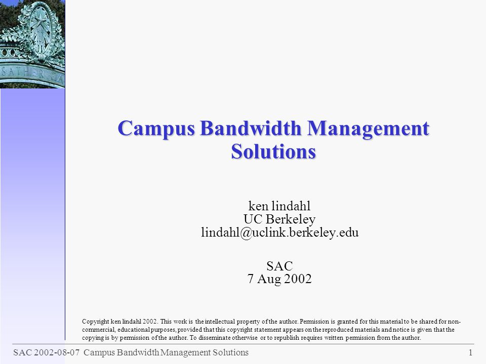 Campus Bandwidth Management Solutions