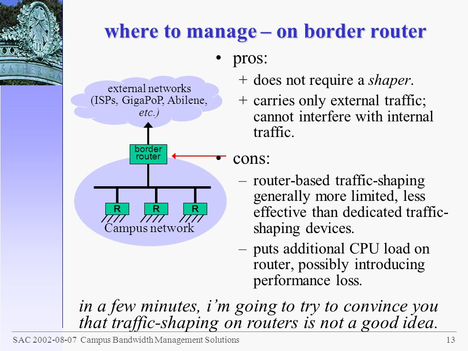 where to manage – on border router