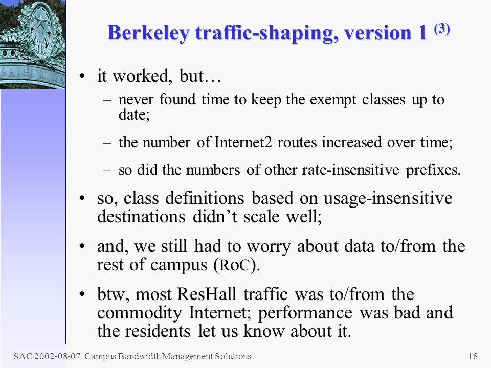 Berkeley traffic-shaping, version 1 (3)