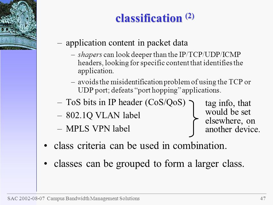 classification (2) class criteria can be used in combination.