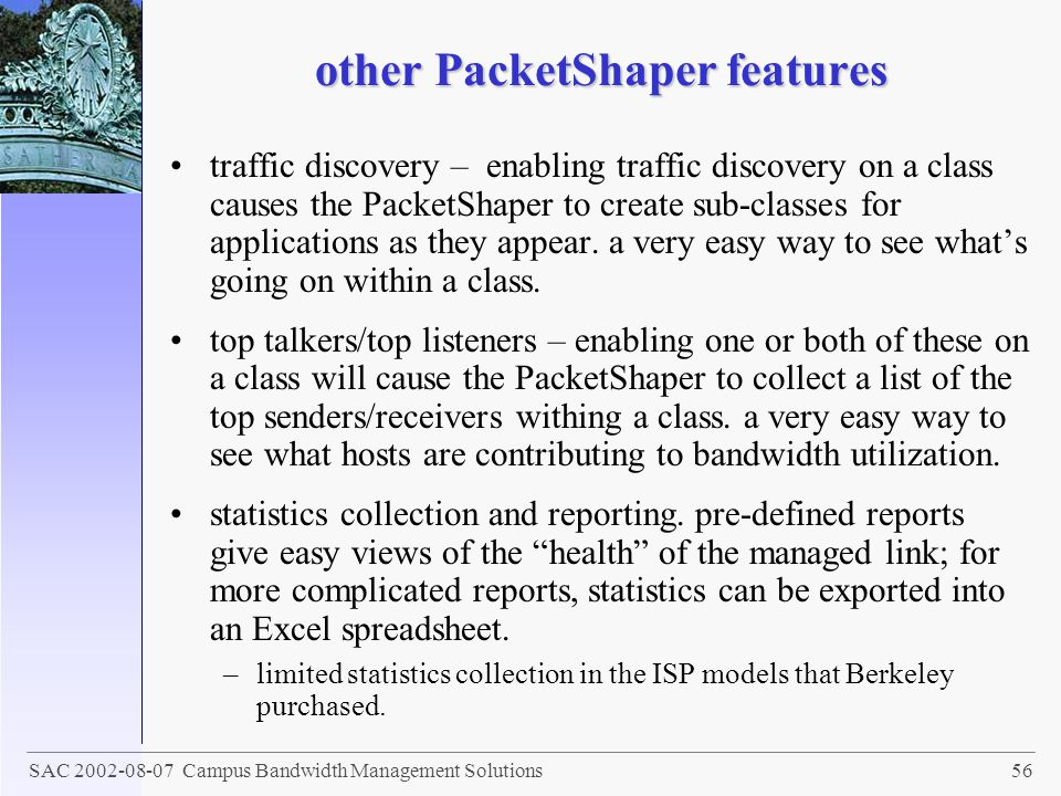 other PacketShaper features