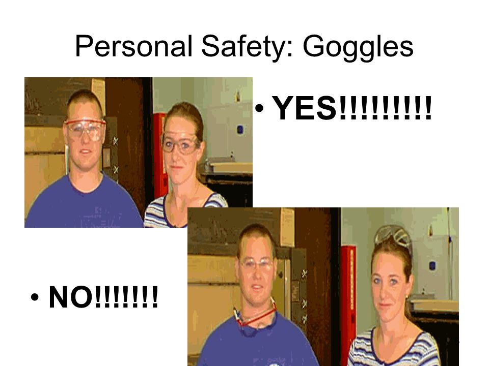 Personal Safety: Goggles