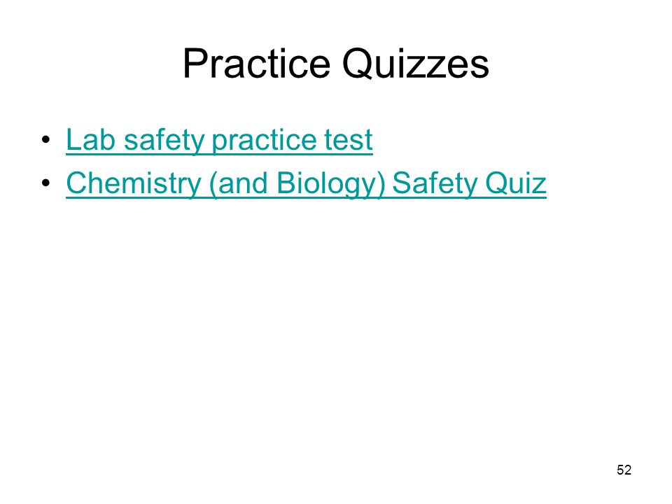 Practice Quizzes Lab safety practice test