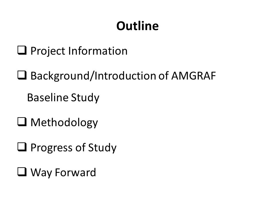 Outline Project Information