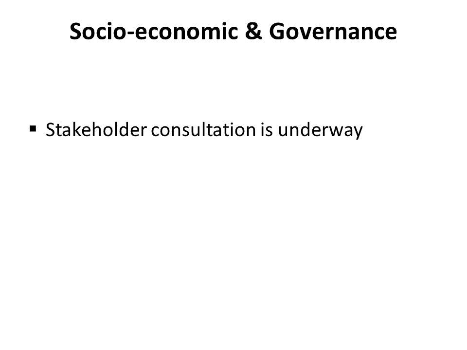 Socio-economic & Governance