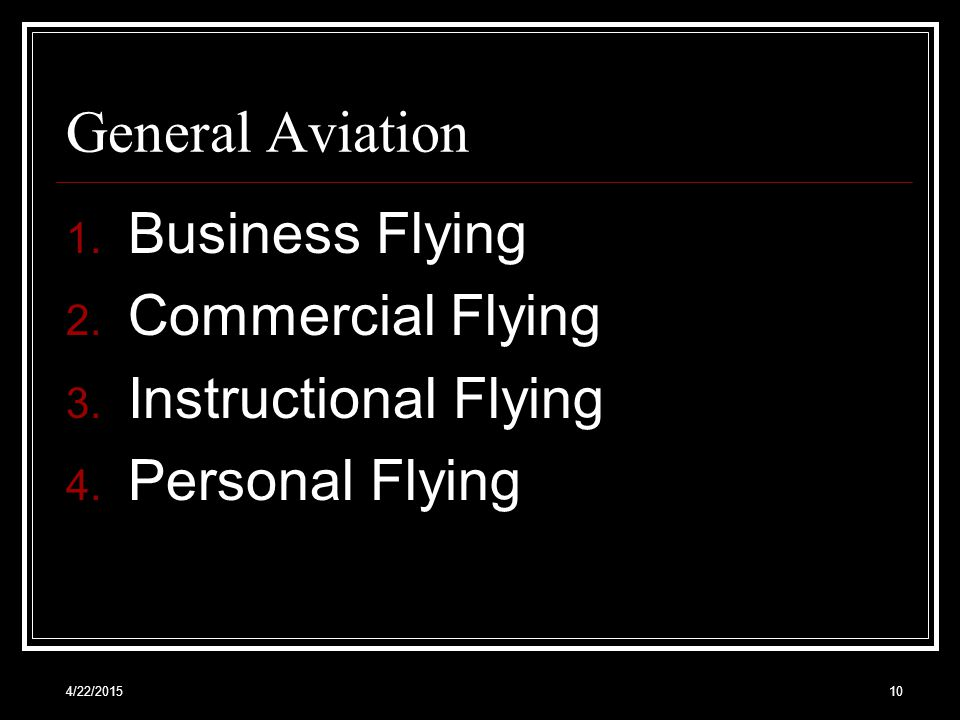 General Aviation Business Flying Commercial Flying