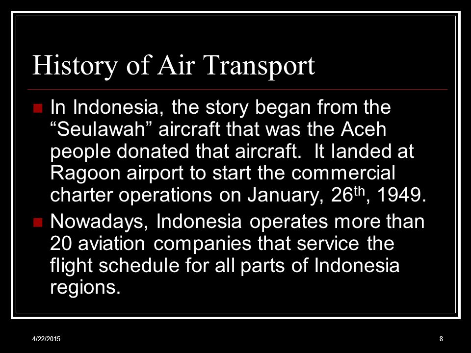 History of Air Transport