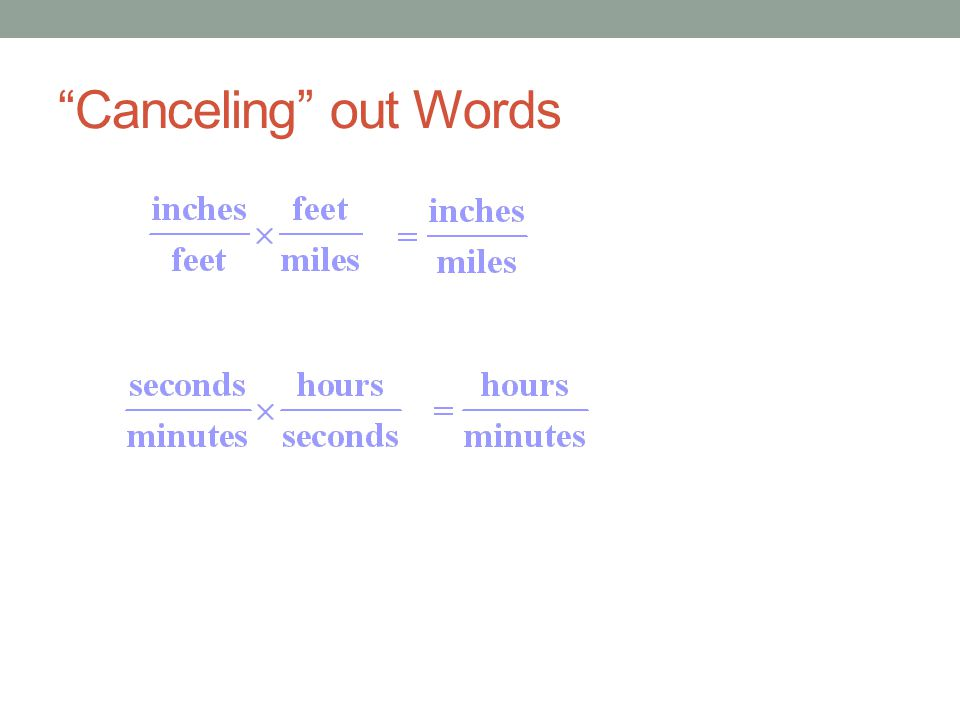 Canceling out Words