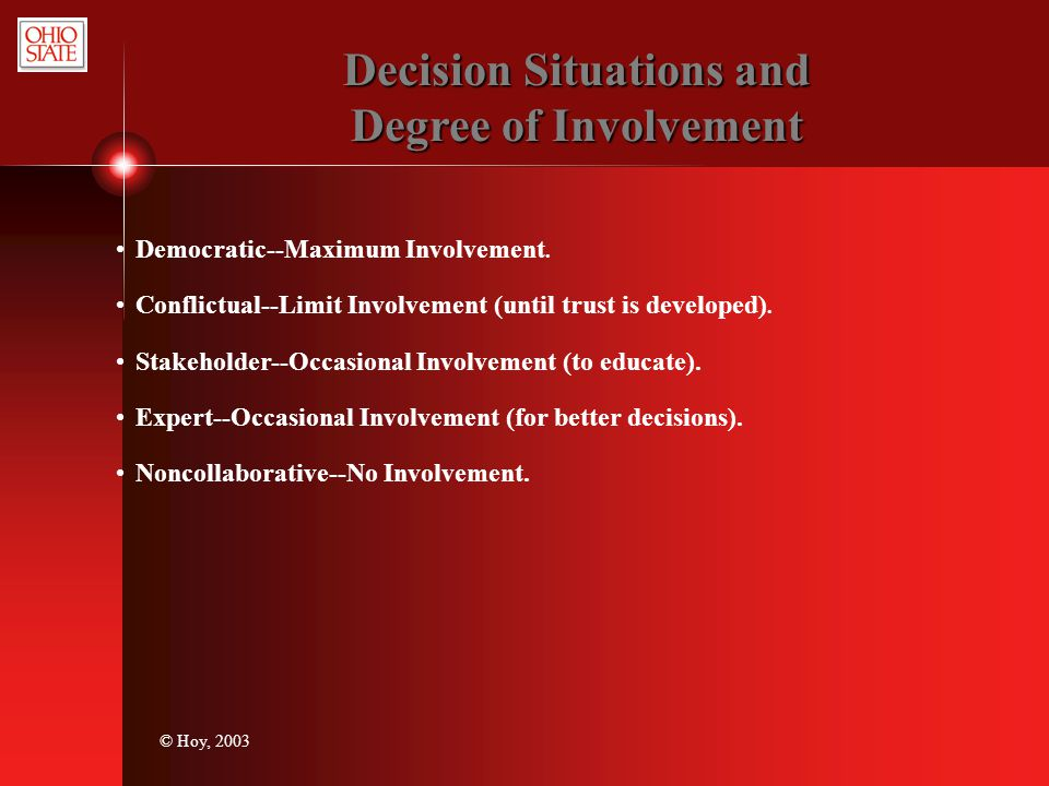 Decision Situations and