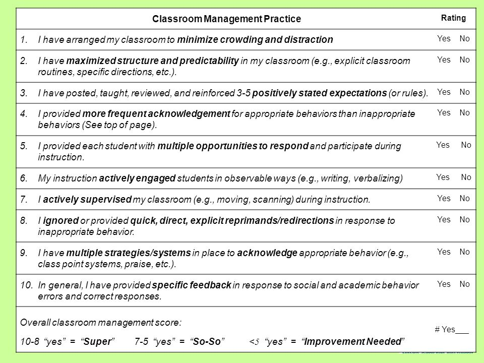 Classroom Management Practice