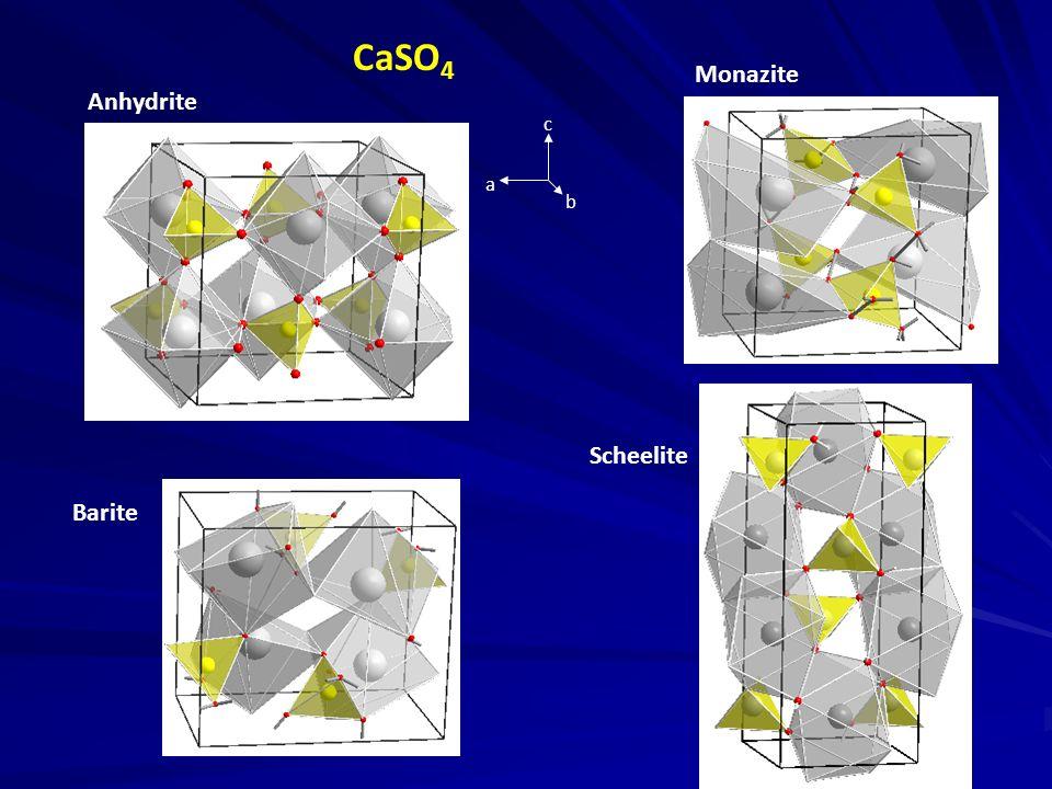 CaSO4 Monazite Anhydrite a b c Scheelite Barite 1.955 1.958