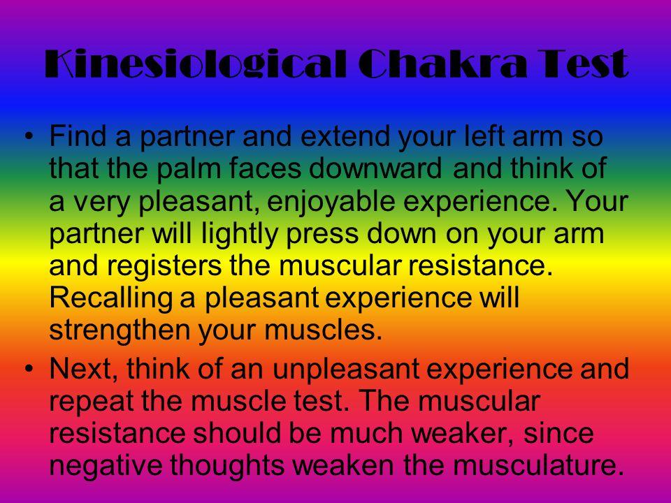 Kinesiological Chakra Test