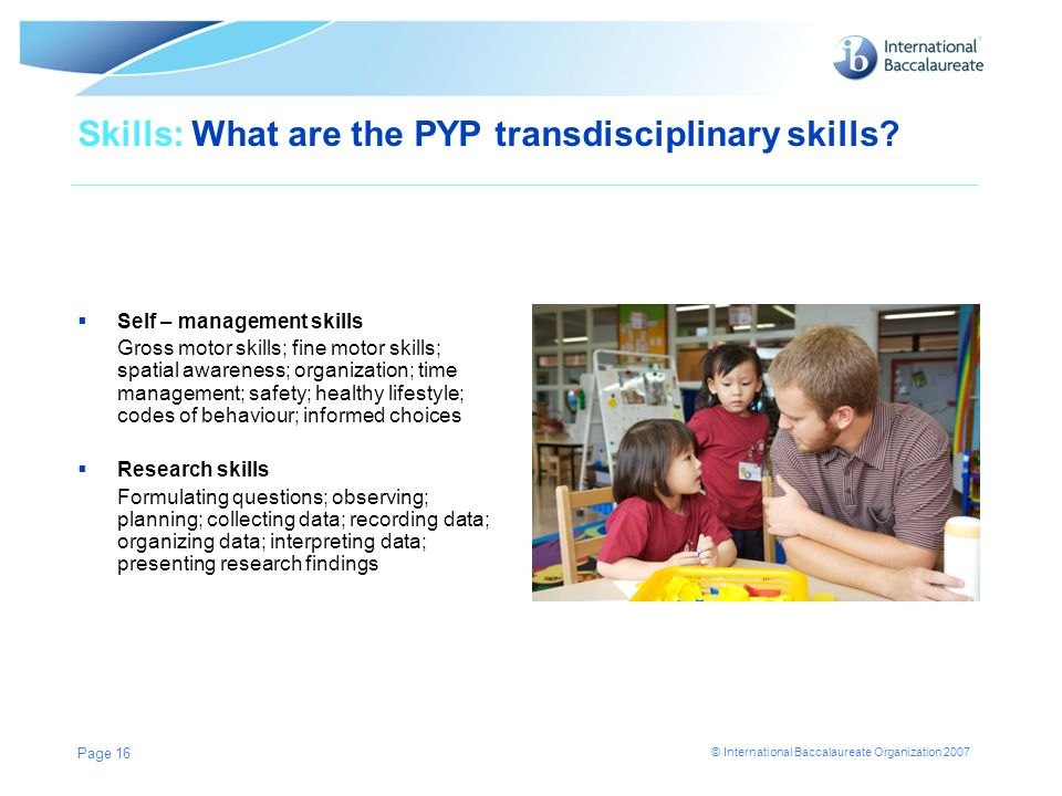 Skills: What are the PYP transdisciplinary skills