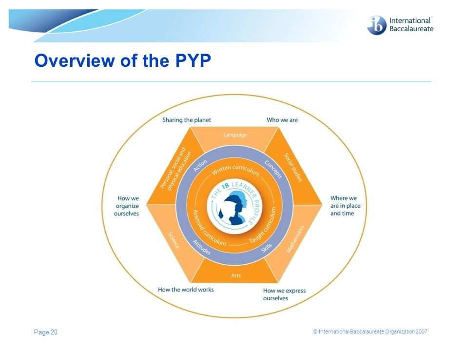 Overview of the PYP