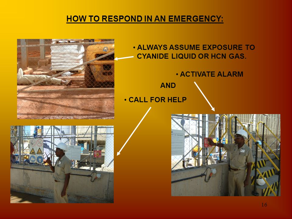HOW TO RESPOND IN AN EMERGENCY: