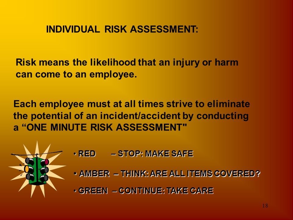 INDIVIDUAL RISK ASSESSMENT:
