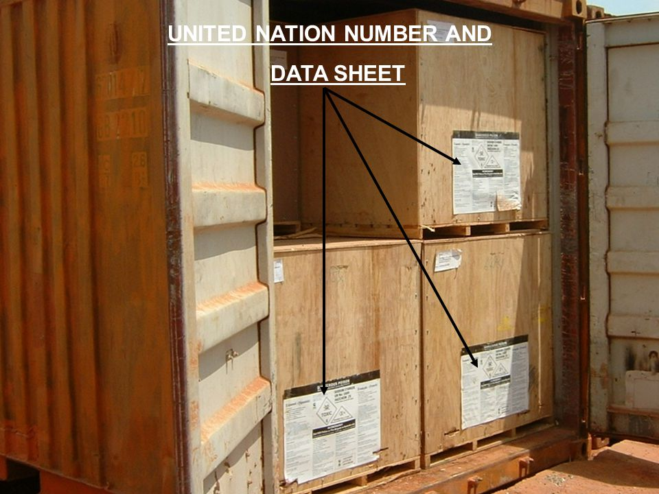 UNITED NATION NUMBER AND