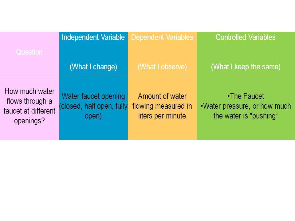 Dependent Variables (What I observe)