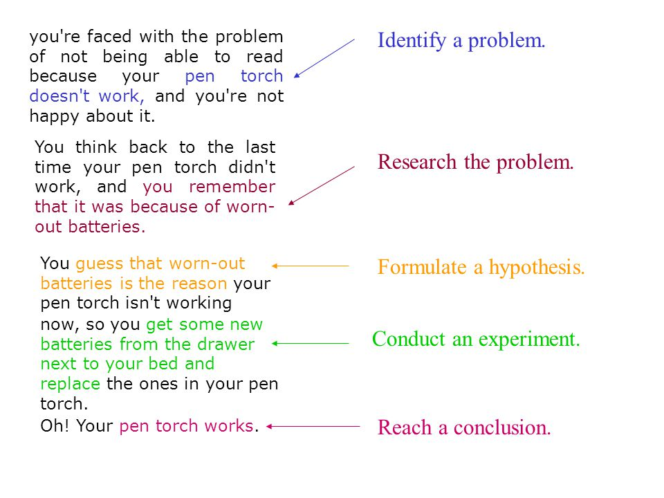 Formulate a hypothesis.