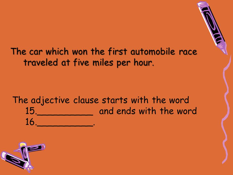 The car which won the first automobile race traveled at five miles per hour.