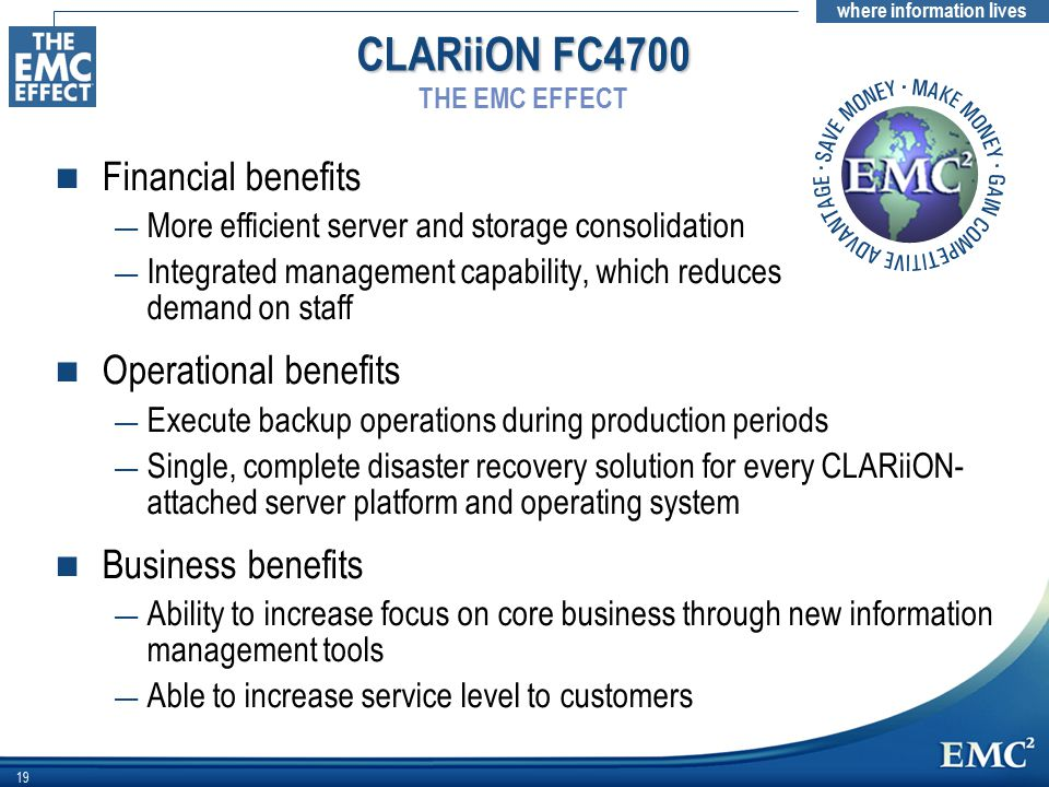 CLARiiON FC4700 THE EMC EFFECT