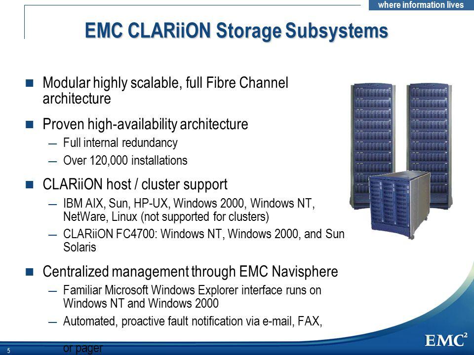 EMC CLARiiON Storage Subsystems