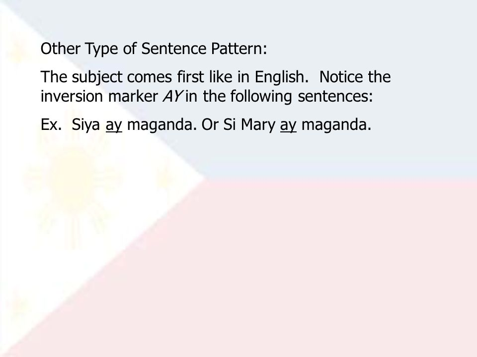 Other Type of Sentence Pattern: