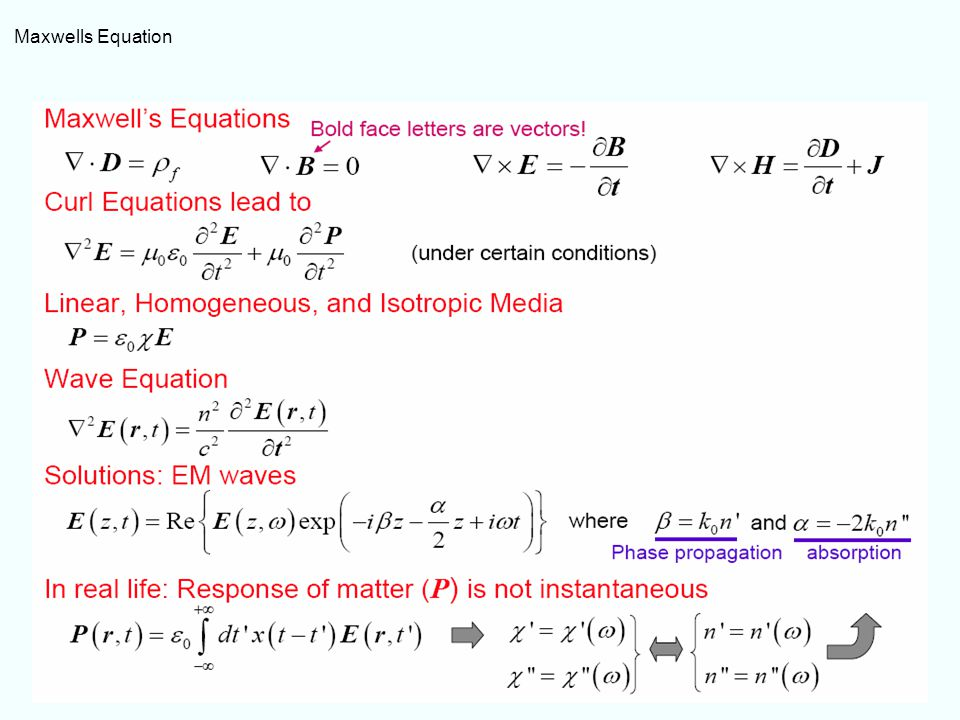 Maxwells Equation