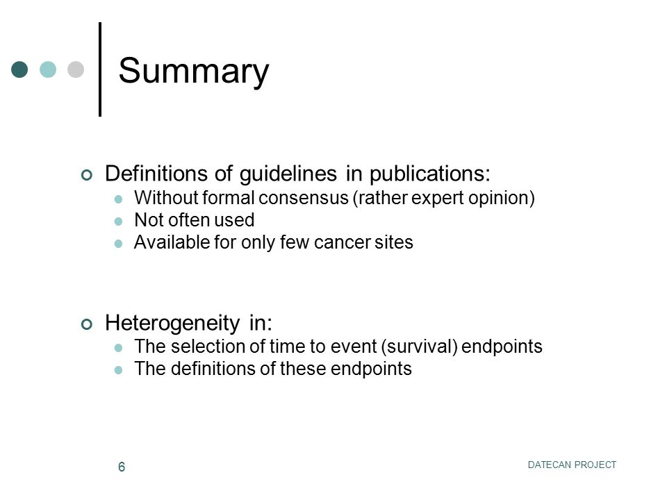 Summary Definitions of guidelines in publications: Heterogeneity in: