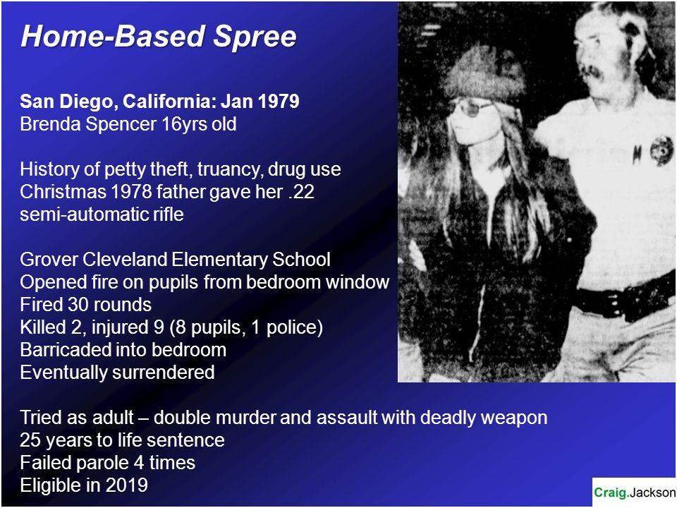 Home-Based Spree San Diego, California: Jan 1979