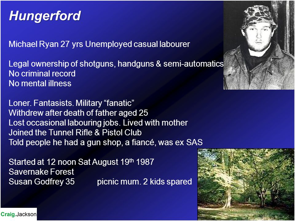 Hungerford Michael Ryan 27 yrs Unemployed casual labourer