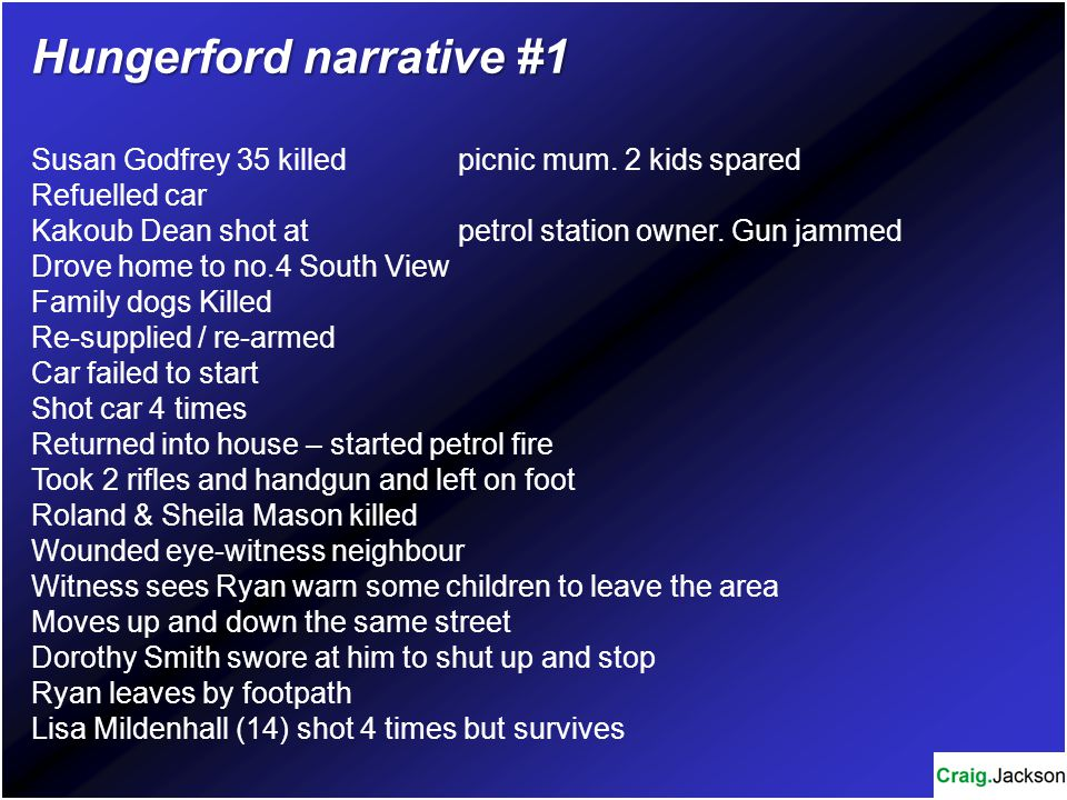 Hungerford narrative #1