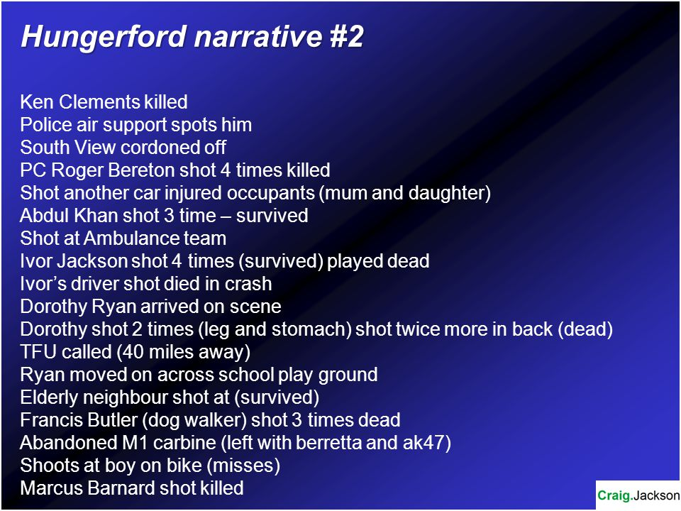 Hungerford narrative #2