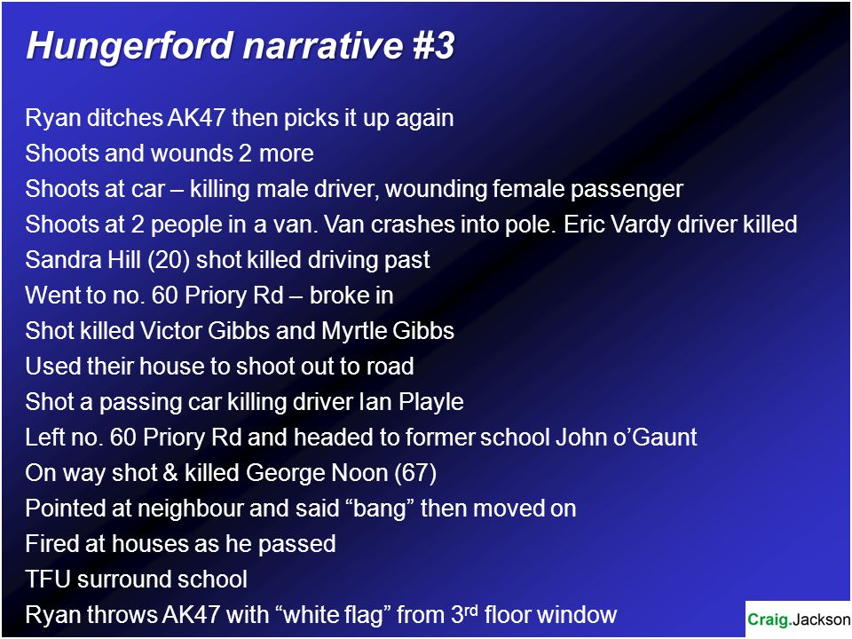 Hungerford narrative #3