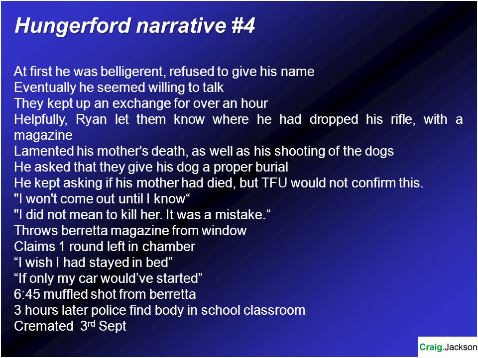 Hungerford narrative #4
