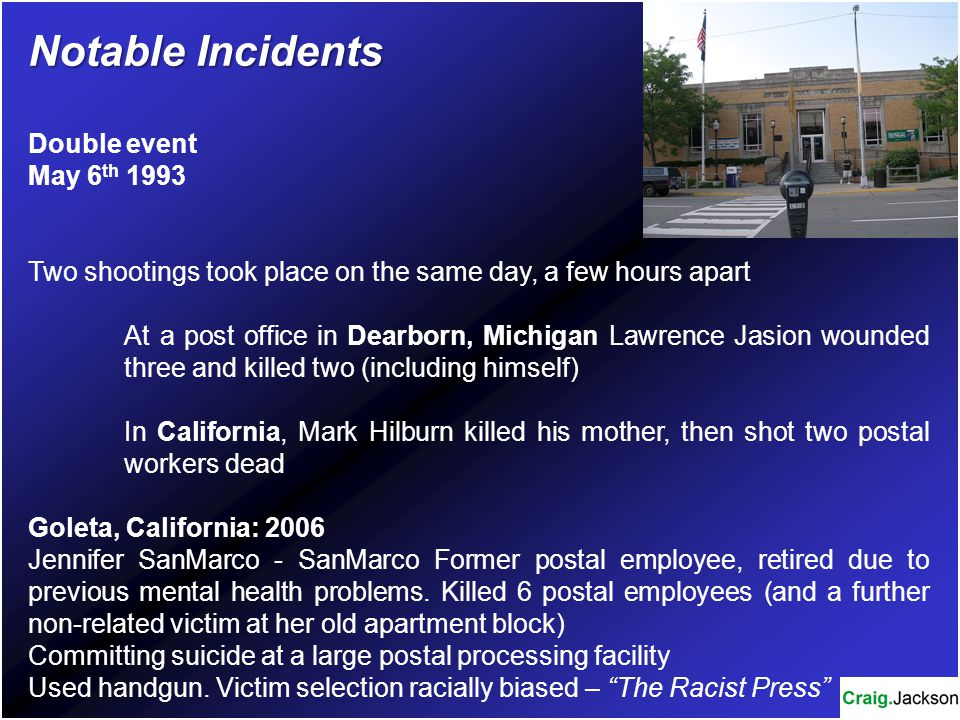 Notable Incidents Double event May 6th 1993