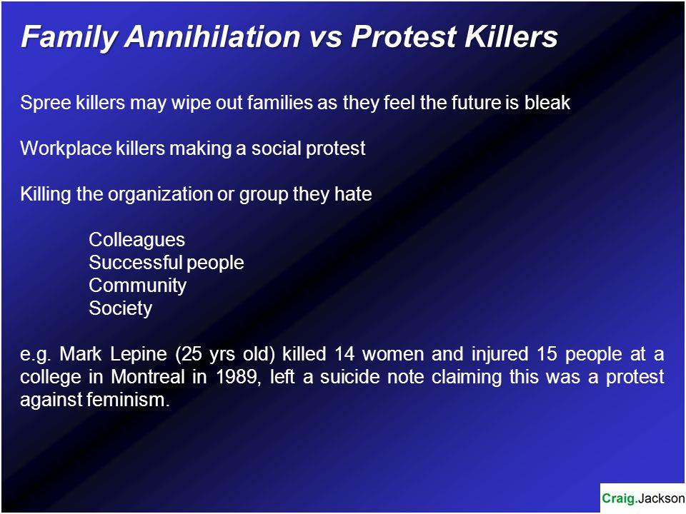 Family Annihilation vs Protest Killers