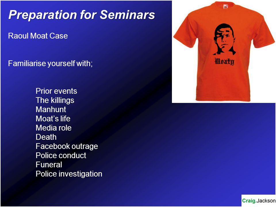 Preparation for Seminars